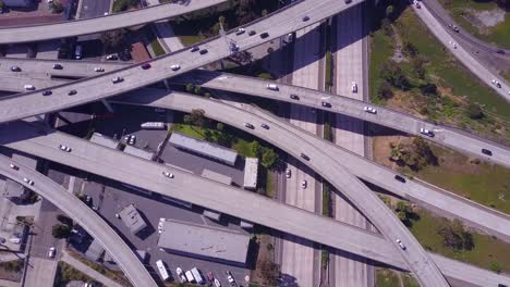 An-excellent-aerial-over-a-vast-freeway-interchange-near-Los-Angeles-California-3