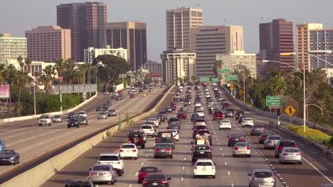 Traffic-moves-along-a-California-freeway-near-San-Diego
