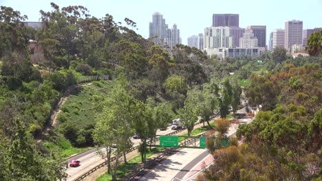 Traffic-moves-along-a-California-freeway-near-San-Diego-2