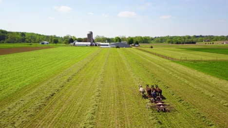 An-amazing-vista-aérea-of-Amish-farmers-tending-their-fields-with-horse-and-plow-1