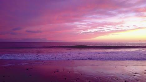 Beautiful-aerial-shot-of-the-ocean-at-sunset-or-sunrise-near-Malibu-California