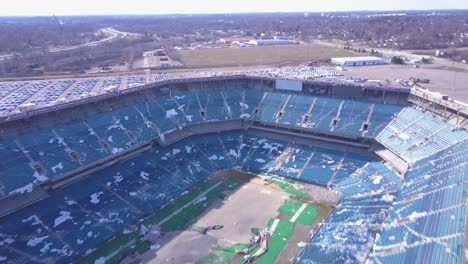 Aerial-over-the-abandoned-and-incredibly-spooky-Pontiac-Silverdome-football-stadium-near-Detroit-Michigan-3