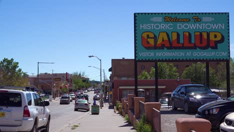 A-sign-welcomes-visitors-to-Gallup-new-Mexico