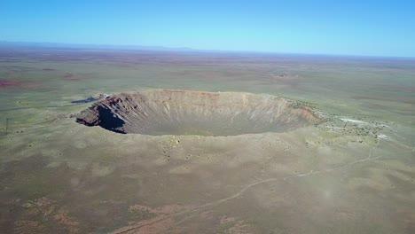 Amazing-aerial-over-Meteor-Crater-Arizona-1