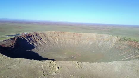 An-incredible-high-angle-aerial-of-Meteor-Crater-Arizona