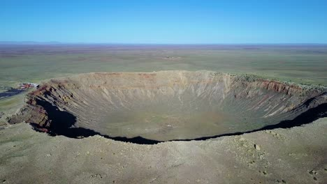 An-incredible-high-angle-aerial-of-Meteor-Crater-Arizona-1