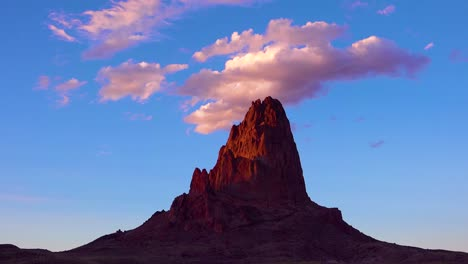 Amazing-time-lapse-of-clouds-moving-over-a-mountain-peak-near-Monument-Valley