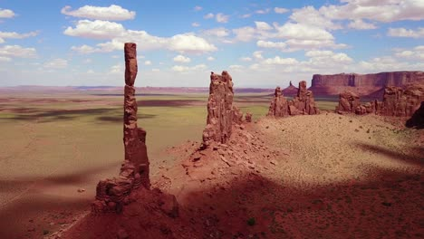 Beautiful-inspiring-aerial-over-spires-and-rock-formations-in-Monument-Valley-Utah-3