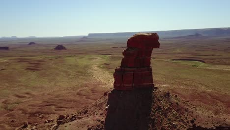 Incredible-aerial-around-the-buttes-and-rock-formations-of-Monument-Valley-Utah-1