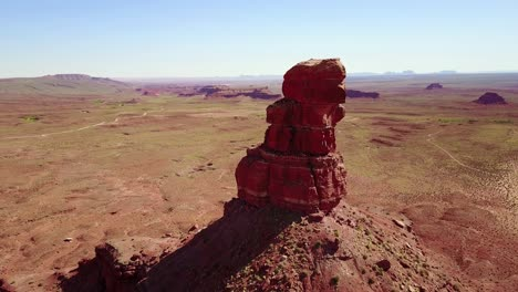 Incredible-aerial-around-the-buttes-and-rock-formations-of-Monument-Valley-Utah-2