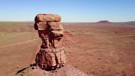 Incredible-aerial-around-the-buttes-and-rock-formations-of-Monument-Valley-Utah-3