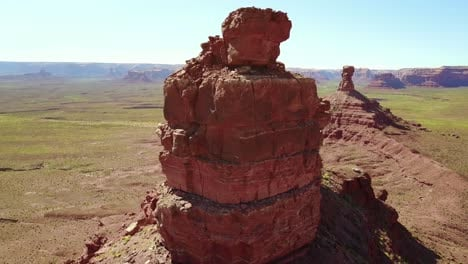 Aerial-around-the-buttes-and-rock-formations-of-Monument-Valley-Utah-1