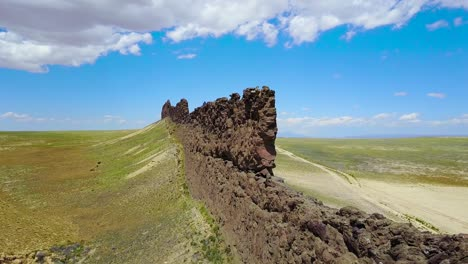 A-remarkable-aerial-over-a-natural-geological-formation-reveals-Shiprock-New-Mexico