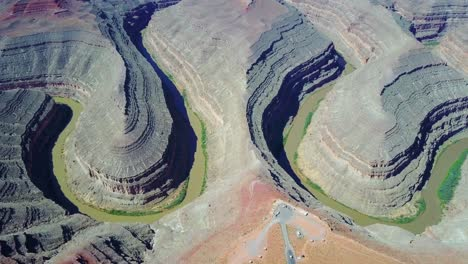 High-aerial-over-the-San-Juan-River-at-Goosenecks-Utah-2