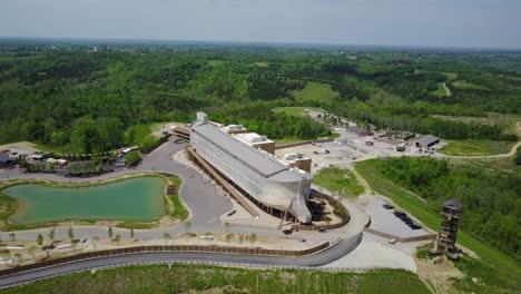 An-aerial-over-a-replica-of-Noah-s-Ark-at-the-Ark-Encounter-theme-park-in-Kentucky-2