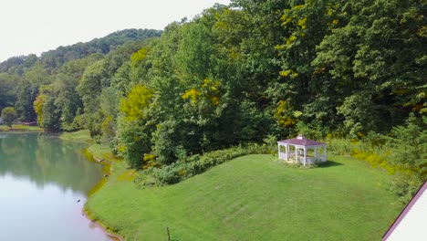 Aerial-over-a-romantic-and-beautiful-small-church-in-the-American-wilderness-West-Virginia-2