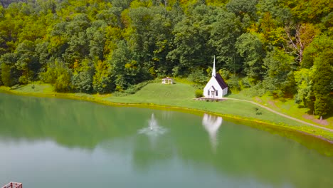 Rising-aerial-over-a-romantic-and-beautiful-small-church-in-the-American-wilderness-West-Virginia-1