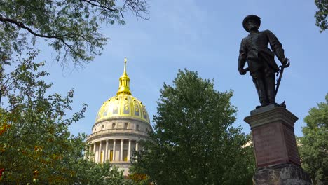 A-Confederate-statue-stands-in-front-of-the-capital-building-in-Charleston-West-Virginia-1