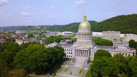 Beautiful-aerial-of-the-capital-building-in-Charleston-West-Virginia-2