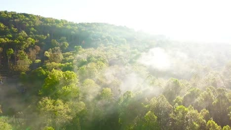 Beautiful-early-morning-aerial-of-fog-in-Appalachia-West-Virginia-1