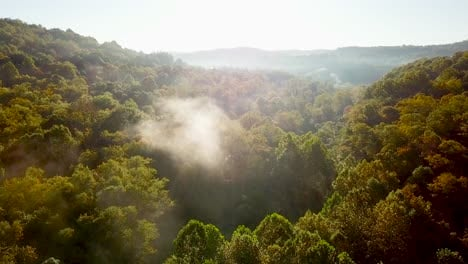 Beautiful-early-morning-aerial-of-fog-in-Appalachia-West-Virginia-2