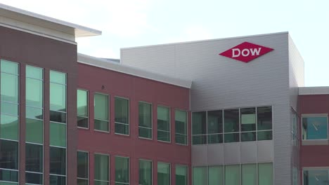 Establishing-shot-of-the-corporate-headquarters-of-Dow-Chemical