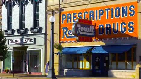A-historic-old-Rexall-drug-store-in-small-town-America