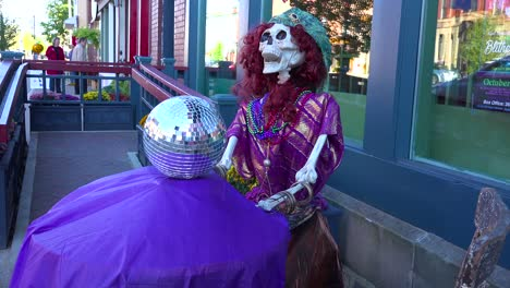 Halloween-skeletons-and-decorations-along-main-street-America-1
