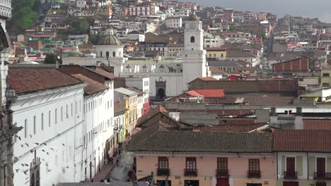 A-pretty-establishing-shot-of-Quito-Ecuador-with-the-San-Francisco-church-and-convent-foreground-3