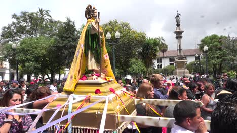 A-catholic-procession-moves-through-the-streets-of-Quito-Ecuador