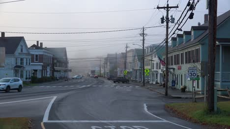 A-small-New-England-town-in-the-fog