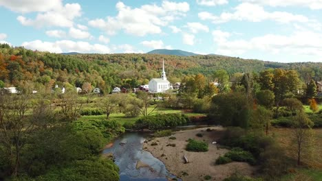 A-beautiful-aerial-over-Stowe-Vermont-perfectly-captures-small-town-America