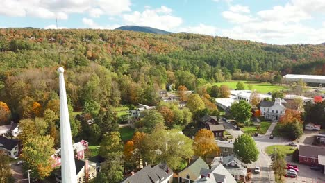 A-beautiful-aerial-over-Stowe-Vermont-perfectly-captures-small-town-America-or-New-England-beauty-2