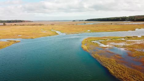 Aerial-over-vast-bogs-along-the-Nonesuch-River-near-Portland-Maine-New-England