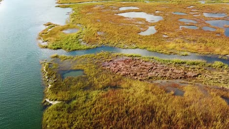Aerial-over-vast-bogs-along-the-Nonesuch-River-near-Portland-Maine-New-England-3