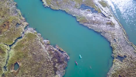Aerial-over-kayakers-rowing-through-vast-bogs-along-the-Nonesuch-River-near-Portland-Maine-New-England-3