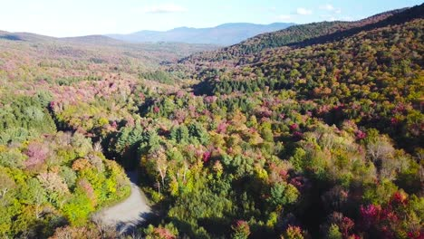 Aerial-over-vast-forests-of-fall-foliage-and-color-in-Vermont-or-New-England-1