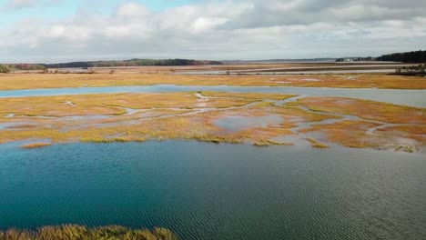 Aerial-over-vast-bogs-along-the-Nonesuch-River-near-Portland-Maine-New-England-5