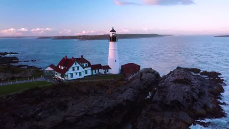Great-aerial-shot-over-the-Portland-Head-lighthouse-suggests-Americana-or-beautiful-New-England-scenery