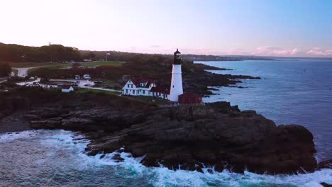 Great-aerial-shot-over-the-Portland-Head-lighthouse-suggests-Americana-or-beautiful-New-England-scenery-1
