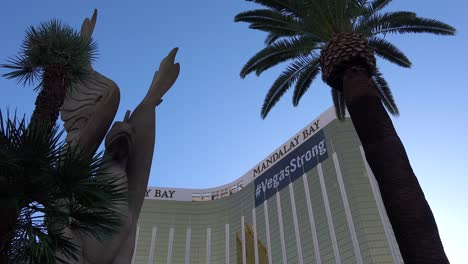2017---low-angle-of-the-Mandalay-Bay-Hotel-with-large-sign-saying-vegastrong-following-Americas-worst-mass-shooting-in-Las-Vegas