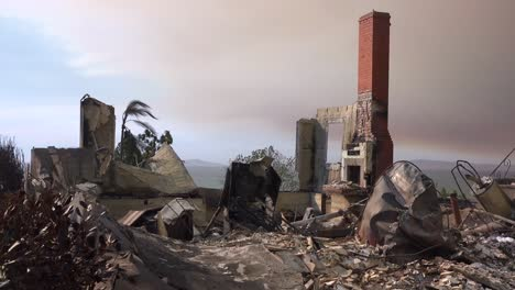 The-charred-remains-of-a-home-following-the-2017-Thomas-fire-in-Ventura-County-California