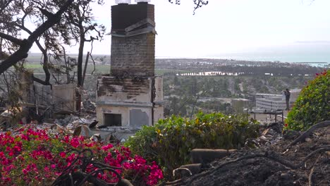 A-burned-home-sits-on-a-hillside-following-the-2017-Thomas-fire-in-Ventura-County-California