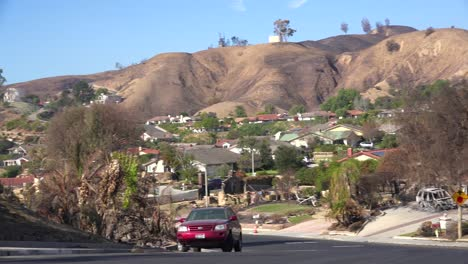 Pan-across-a-neighborhood-in-Ventura-California-devastated-by-the-Thomas-Fire-in-2017