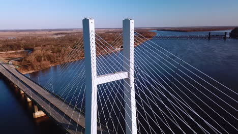 Aerial-of-a-suspension-bridge-crossing-the-Mississippi-River-near-Burlington-Iowa-suggests-American-infrastructure-1