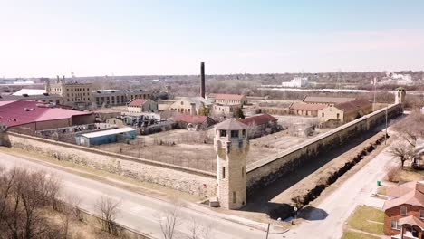 Aerial-of-the-derelict-and-abandoned-Joliet-prison-or-jail-a-historic-site-since-construction-in-the-1880s-1