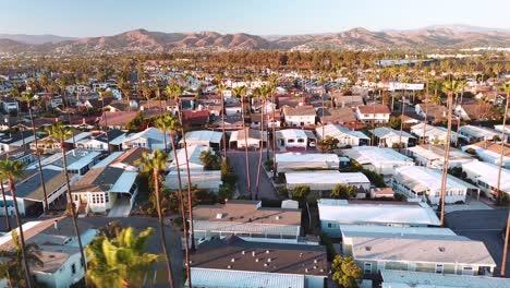 Aerial-over-suburban-Southern-California-sprawl-harbor-and-condos-near-Ventura-California-1