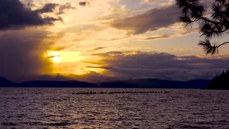 Sunset-behind-abandoned-pier-pilings-at-Glenbrook-Nevada-along-the-shores-of-Lake-Tahoe