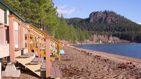 Summer-cabins-and-cabanas-line-the-shores-of-a-resort-at-Lake-Tahoe-Nevada