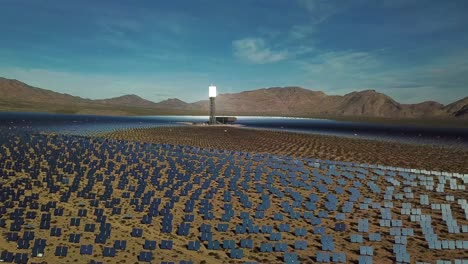 Drone-aerial-over-a-vast-solar-power-generating-facility-at-Primm-Nevada-2